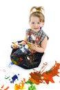 Free Cute Baby Paintings Stock Image - 9320381