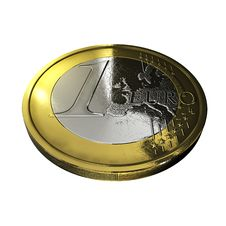 Free One Euro Coin Isolated Royalty Free Stock Image - 9320006