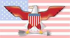 Abstract American Bird Stock Photo