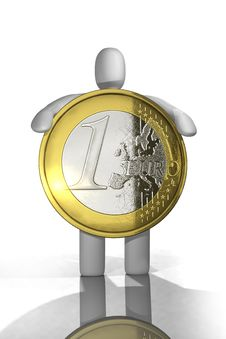 Free Euro Coin Concept Isolated Stock Photography - 9320102
