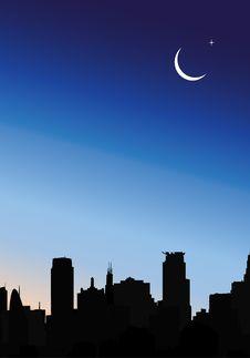 Free Modern City At Night Stock Photography - 9320292