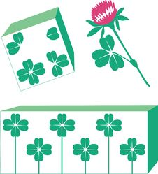 Free Shamrock Set Royalty Free Stock Photo - 9321205