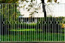 Free White Metal Fence Royalty Free Stock Image - 9322416