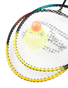 Free Rackets Royalty Free Stock Photo - 9323215