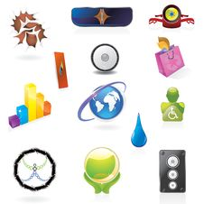 Free Various Beautiful Abstract Icons Stock Images - 9323394