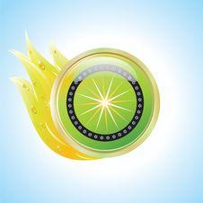 Green Environmental Label Sticker Stock Image