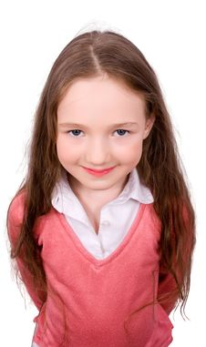 Free Portrait Of Pretty Schoolgirl Stock Photography - 9323692