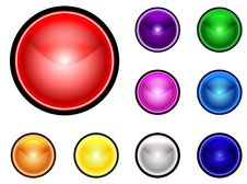 Free Collection On Colorful Buttons Stock Images - 9324014
