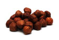 Free Hazelnuts On White Background Stock Image - 9324251