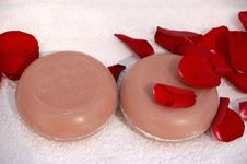 Rose Soap Stock Photos