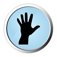 Hand Web Button Royalty Free Stock Image