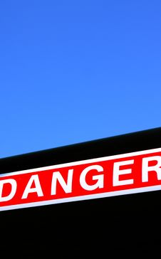 Free Danger Notice Royalty Free Stock Photography - 9324657