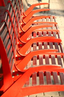 Free Red Benches Royalty Free Stock Image - 9324816