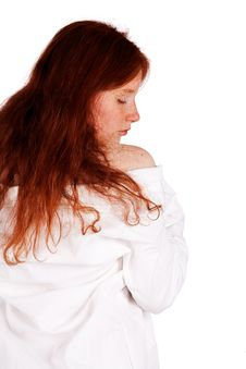 Free Sexy Nurse With Natural Red Curly Hair Royalty Free Stock Image - 9325196