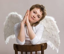 Free Pensive  Angel Royalty Free Stock Photography - 9325297
