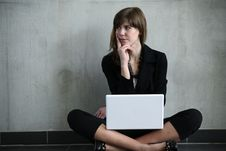 Free Woman With Laptop Royalty Free Stock Image - 9325646