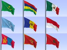 Free Flags Vol7 Royalty Free Stock Image - 9325946