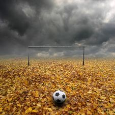 Footbal Pitch Royalty Free Stock Photos