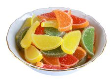 Free Candy In The White Plate Stock Image - 9327901