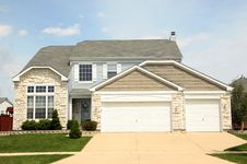 Free New Single Famly House Royalty Free Stock Images - 9328249