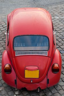 Free Red Beetle Front Headlight Royalty Free Stock Image - 9328696