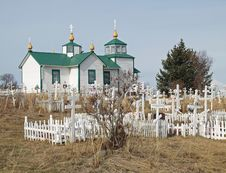 Ninilchik Alaska Russian Church Royalty Free Stock Photo