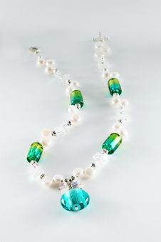 Free Necklace With Azure Gem Stock Images - 9328994