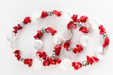 Free Necklace Red Royalty Free Stock Photography - 9329177