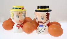 Free Egg Cups (Doubles)Vintage Ceramic Double Egg Cups Stock Photos - 9329573