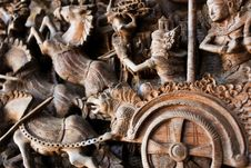 Free Wooden Sculpture Stock Images - 9329604