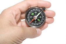 Free Compass In Hand Royalty Free Stock Photography - 9329797