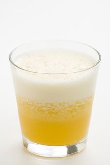 Free Refreshing Pineapple And Orange Milkshake Stock Photography - 9329812