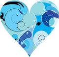 Free Blue Beautiful Decorative Heart Stock Image - 9333581