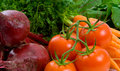 Free Close Up Of Beetroot, Carrots And Tomatoes Royalty Free Stock Photo - 9334435