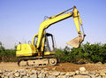 Free Orange Excavator At Construction Site Royalty Free Stock Photo - 9338445