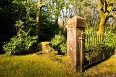 Free Gate And Post Stock Image - 9330161