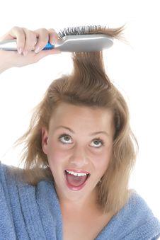 Free Girl Who Brush Their Hair Stock Photo - 9330720