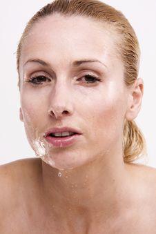 Wet Blonde Royalty Free Stock Image