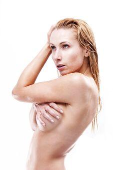 Wet Blonde Stock Image