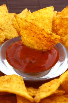 Free Salsa Dip Stock Image - 9333261
