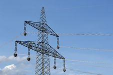Free High Voltage Power Lines Royalty Free Stock Images - 9333389