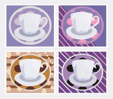 Free Pattern With Cups Royalty Free Stock Image - 9333406