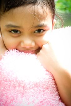 Free Smile Of A Little Girl Stock Image - 9333451
