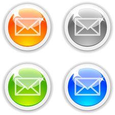 Mail Buttons. Stock Photos