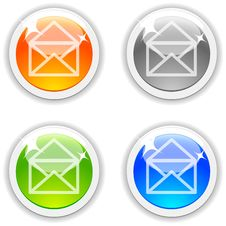 Mail Buttons. Stock Images