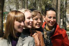 Four Women Friends Royalty Free Stock Photo