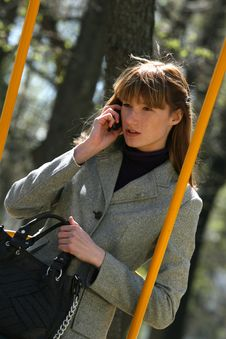 Free Woman On The Phone Royalty Free Stock Images - 9333799