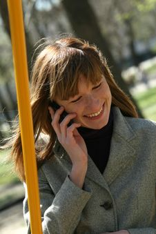 Free Woman On A Phone Stock Photography - 9333802