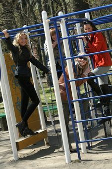 Free Women On Playground Royalty Free Stock Photo - 9333845