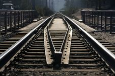 Free Rails And Cross Ties In Prospect. Stock Photo - 9333890